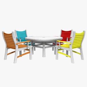 outdoor patio set 3D