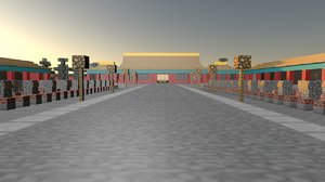 3D dojo world minicraft