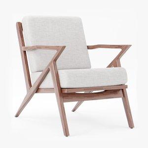 3D model joybird concave arm chair