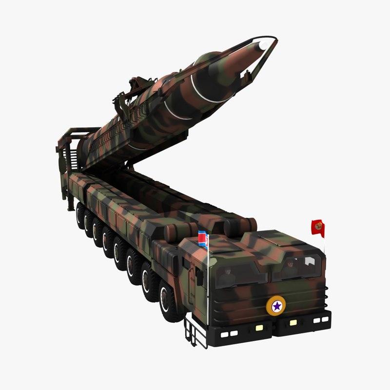 nuclear missile north korea 3D model