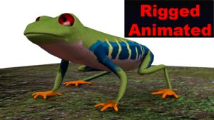 red eyed tree frog 3D model