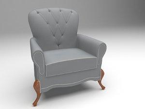 3D sofa modelled model