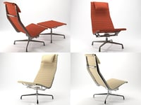 eames aluminium chair 121 3D model
