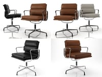 eames soft pad chair model