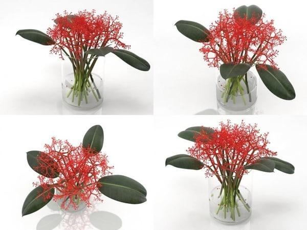 3D model flowers 02