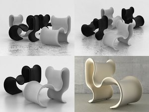 3D fiocco chair model