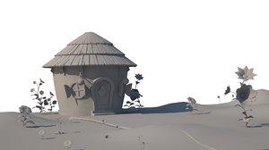 3D stylized environment model