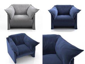 3D la mise armchair model