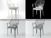 sunrise armchair 3D model