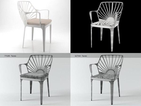 sunrise armchair 3D model