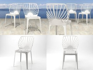 3D model sunrise chair
