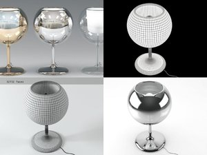 glo table lamp 3D model