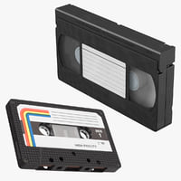 vhs cassette tape 3D model