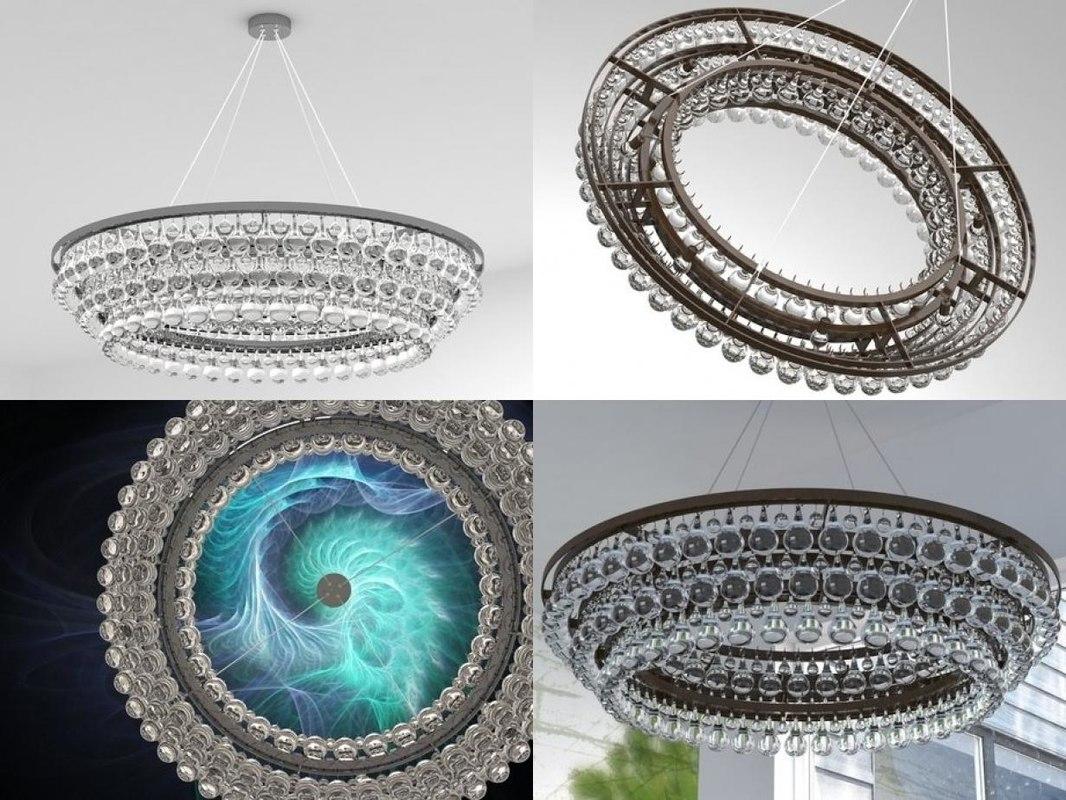 arctic pear chandelier 120 3D model