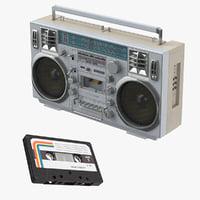 3D boombox cassette model