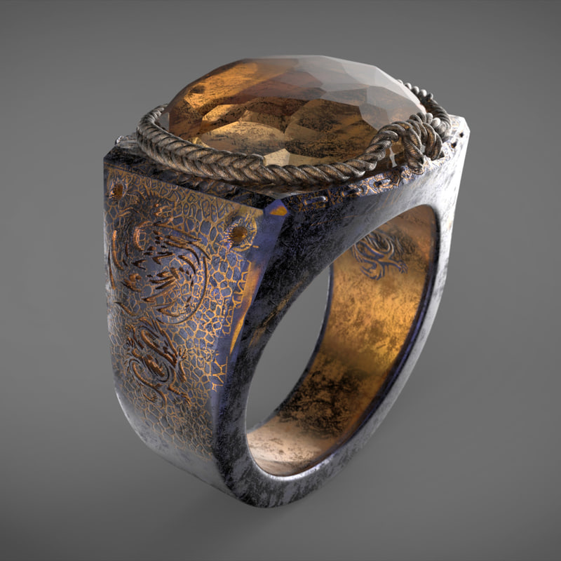 3D dragon eye ring
