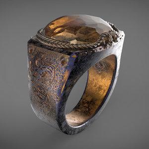 3D dragon eye ring