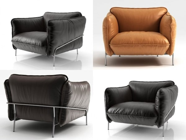 continental armchair 3D