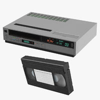 VCR Player and VHS Cassette