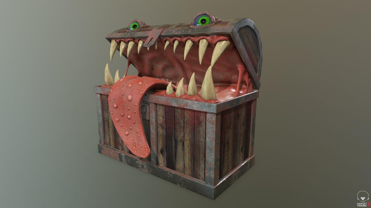pbr monster chest 3D model