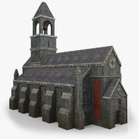 Lowpoly Church wIth Interior