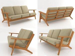 ge 290 3-seater sofa 3D