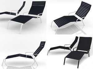 3D rest lounger model