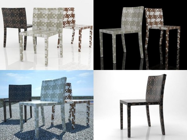 cape west dining chair 3D model