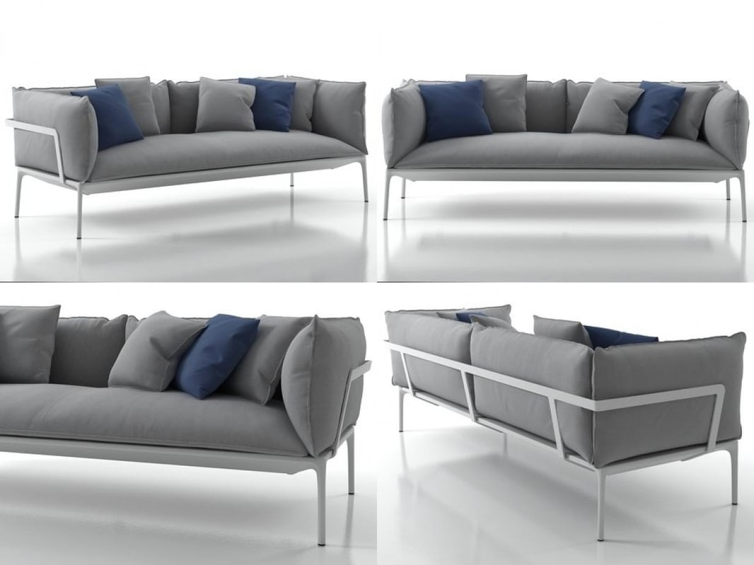 3D yale sofa model
