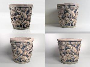 elephant bowl n 3D model