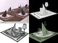 table set 02 3D model