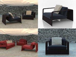 3D frame armchair
