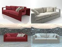 frame 2-seat sofa 3D model