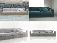 frame 3-seat sofa model
