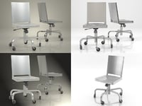 hudson desk chair 3D model