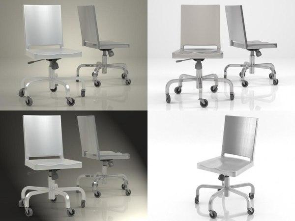 hudson desk chair 3D model