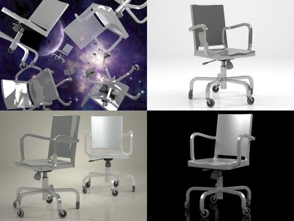 3D hudson desk armchair model
