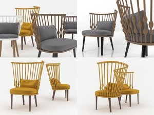 nub easy chair 3D model