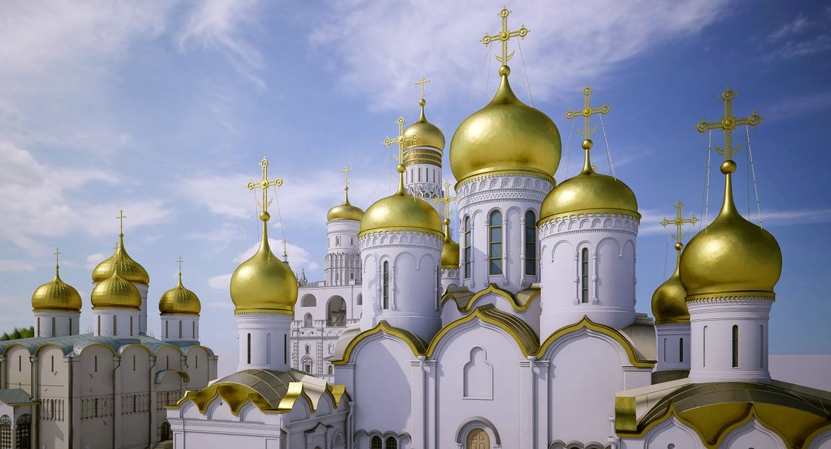 3D russian churches model