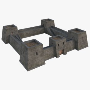 medieval fortress 1 3D