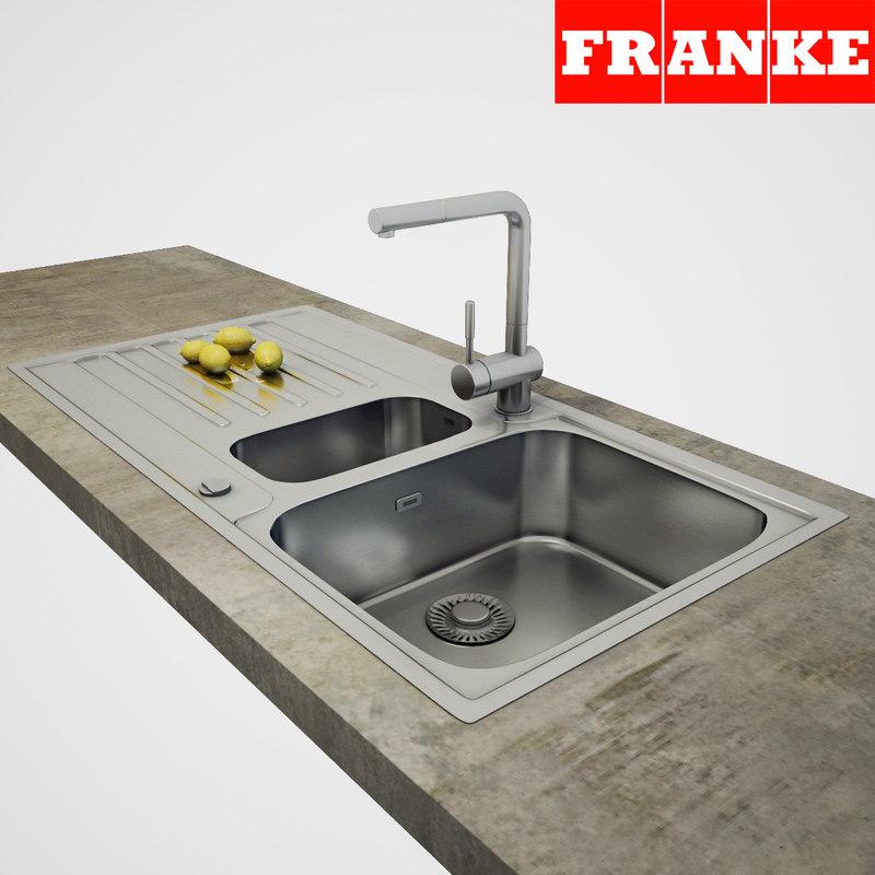3D franke sink model