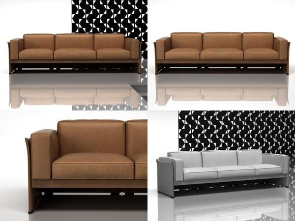 405 duc 3-seater sofa 3D model