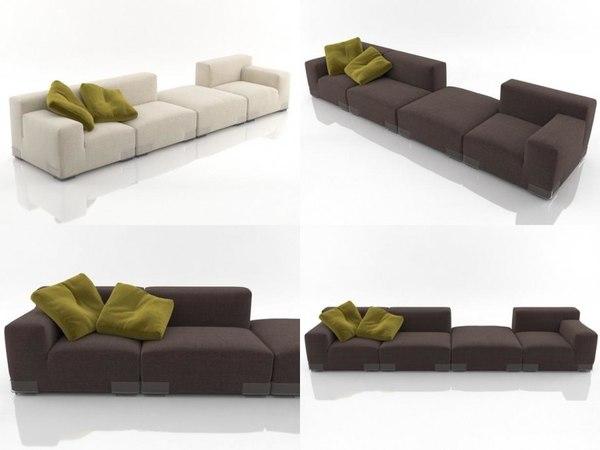 plastics duo sofa 5 3D model