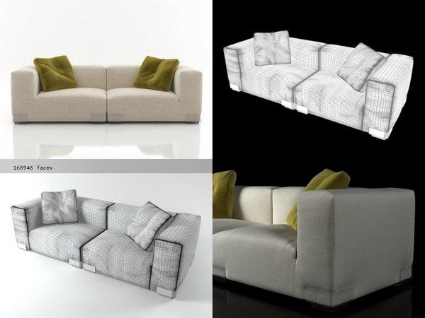 plastics duo sofa 2 model