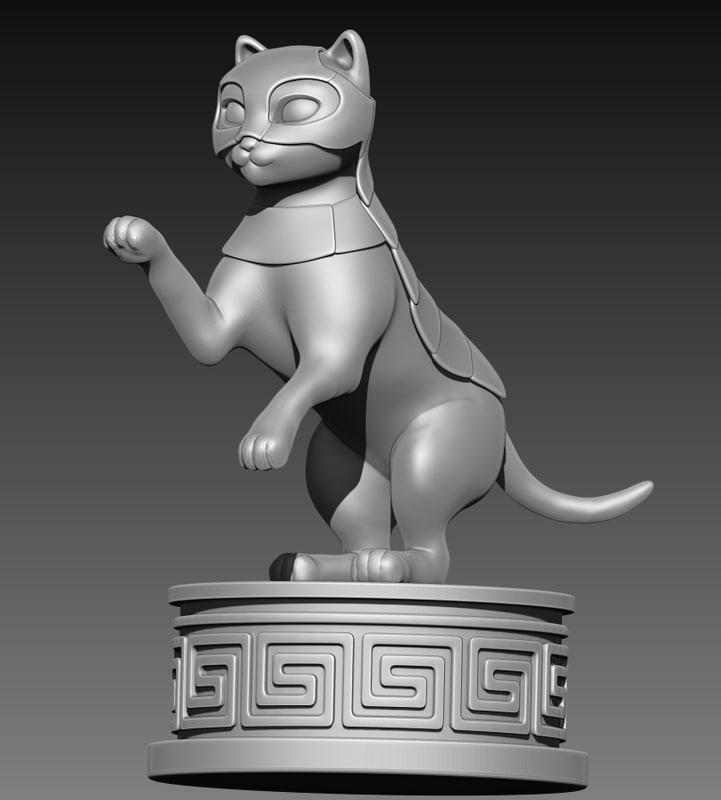 cat armour print 3D