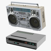 Boombox and VCR Player