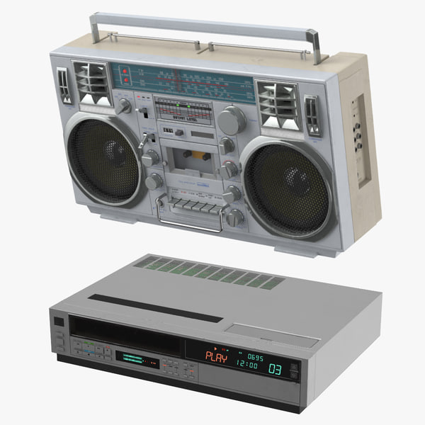 3D boombox vcr player model