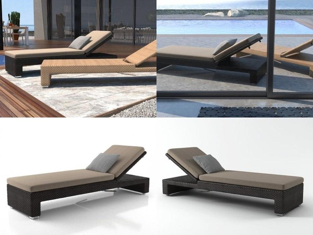 lounge beach chair 3D