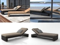 lounge beach chair 3D