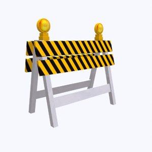 3D model mapped roadblock